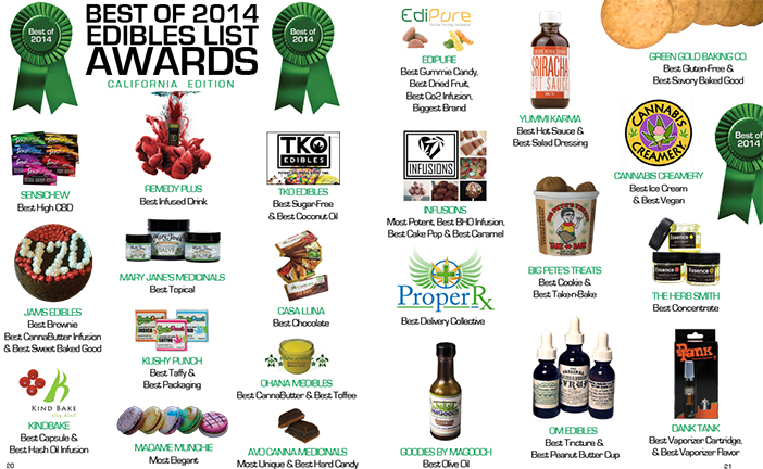 best of 2014 edibles list