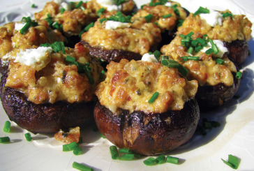 Infused Stuffed Mushrooms