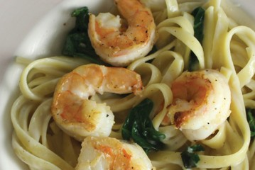 Killer Greens & Shrimp Pasta