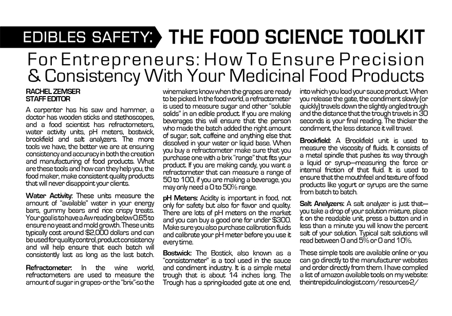 The Food Science Toolkit: For Entrepreneurs – How To Ensure Precision & Consistency With Your Medicinal Food Products