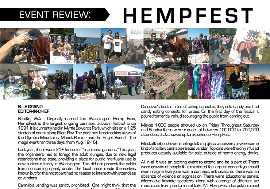 Event Review: HempFest Seattle