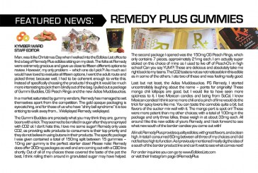 Medible Feature: Remedy Plus Gummies