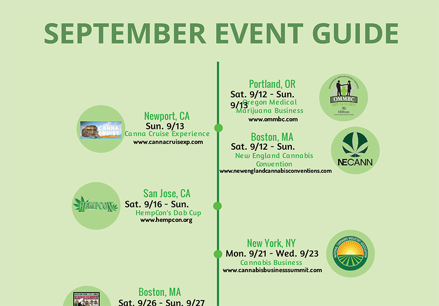 September Cannabis Event Guide