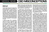 CBD MISCONCEPTIONS
