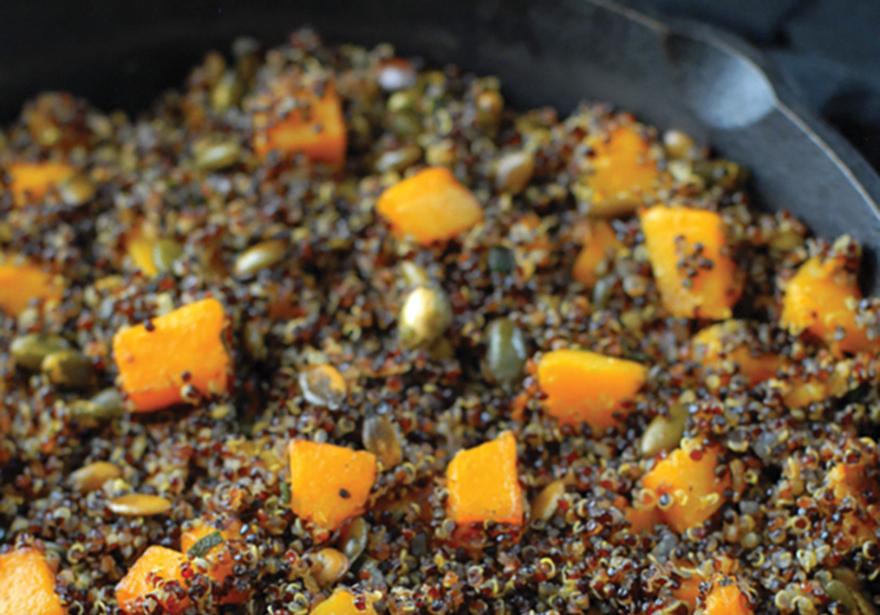 Infused Recipes: Ghoulish Quinoa with Brown-Canna Butter Sage Butternut Squash & Pepitas