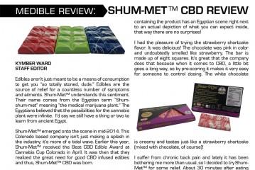 Medible Review: Shum-Met™ CBD Bars