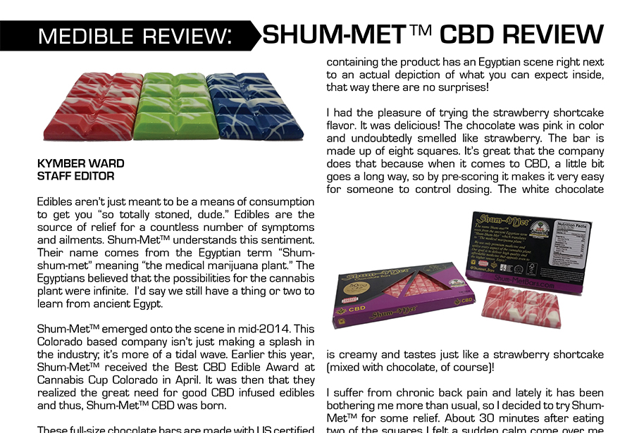 Medible Review: Shum-Met™ CBD Bars | Edibles List | Edibles Magazine