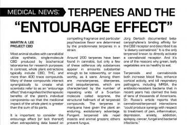 "SCIENCE: TERPENES AND THE ""ENTOURAGE"" EFFECT"
