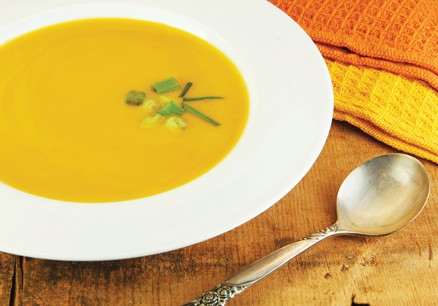 Mighty Medicated Maple Syrup Roasted Butternut Squash Soup