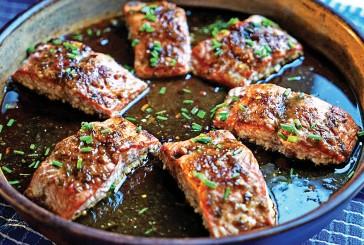 Blazed Baked Salmon