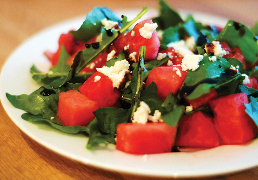 Infused Arugula, Watermelon & Feta Salad