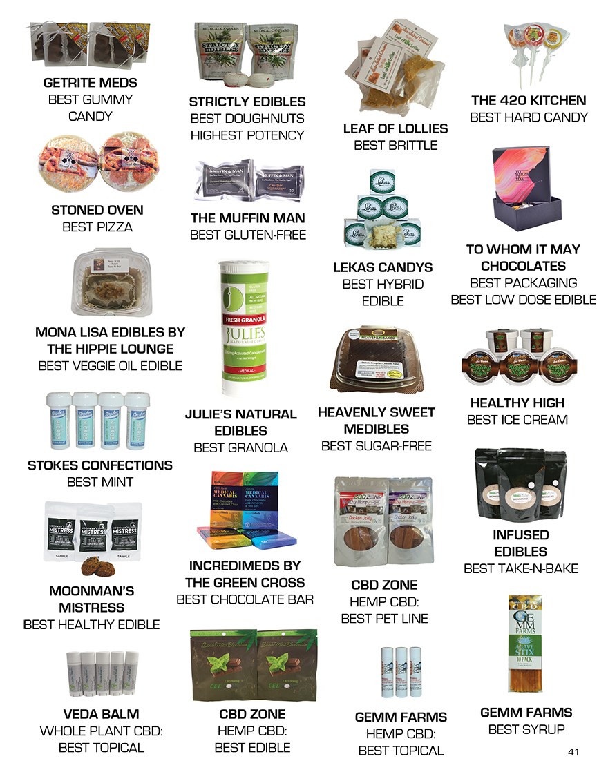 THE 2015 BEST OF EDIBLES LIST AWARDS WINNERS