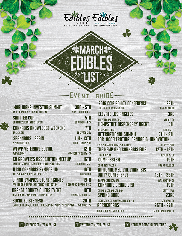 March Cannabis Event Guide