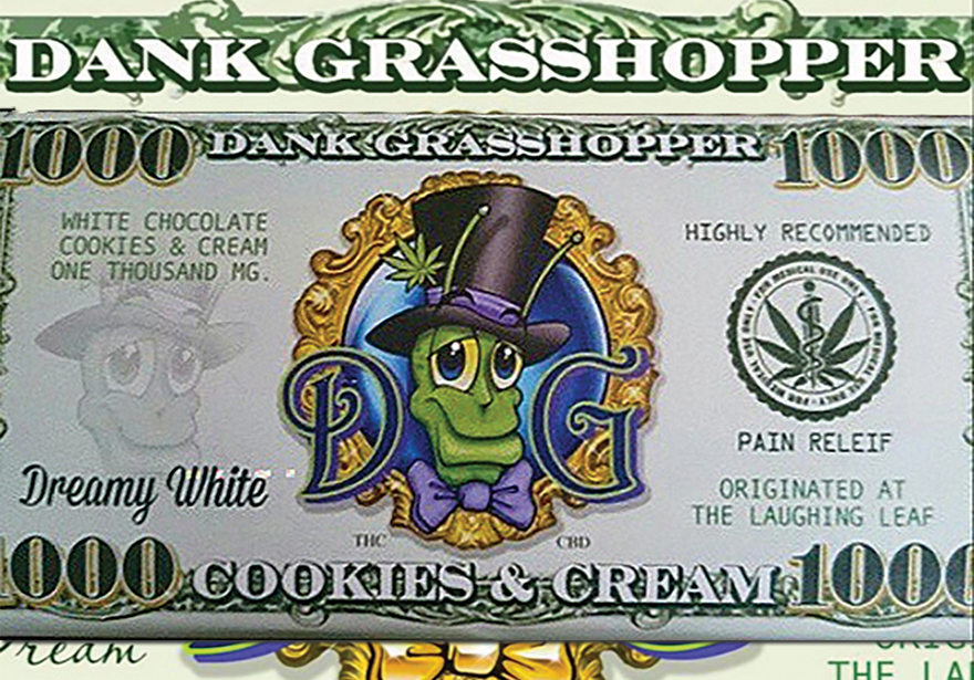 DANK GRASSHOPPER MILKY DREAM 1000MG CHOCOLATE BAR REVIEW