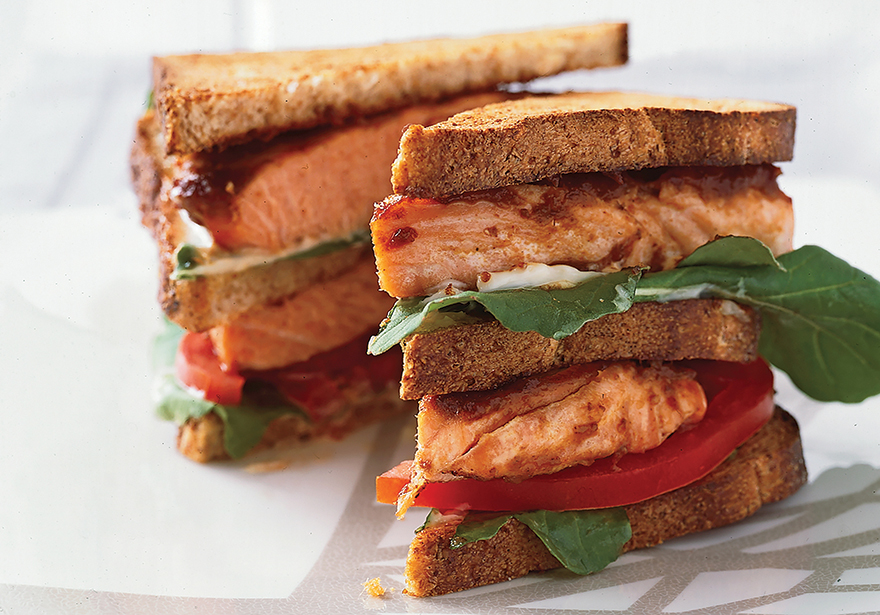 Medible Recipe: Smokin' Salmon Sandwich