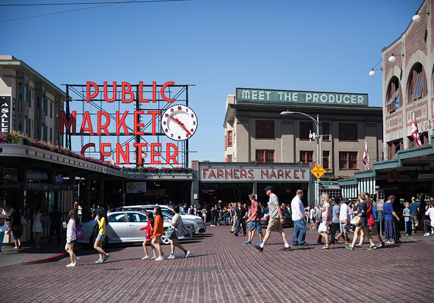 Big Green Tourist Attractions for Downtown Seattle