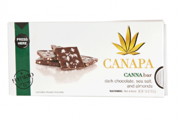 Edible Review: Canapa Dark Choc, Sea Salt, and Almonds