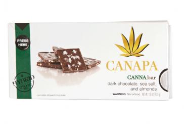 Edible Review: Canapa Dark Choc, Sea Salt, and Almonds
