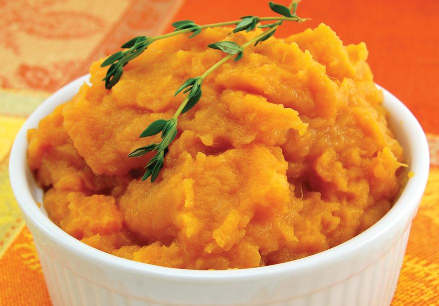 Medicated Maple Mashed Sweet Potatoes