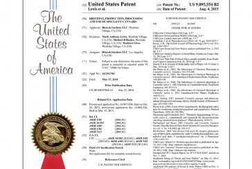 First U.S. Patent to Contain High Percentanges of THC Issued to Oregon Biotech Firm