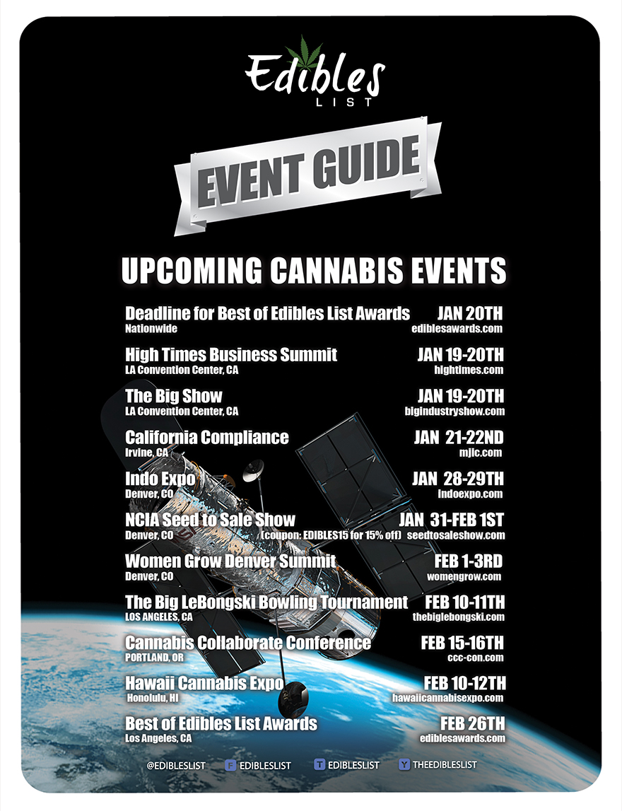 JANUARY CANNABIS EVENT GUIDE