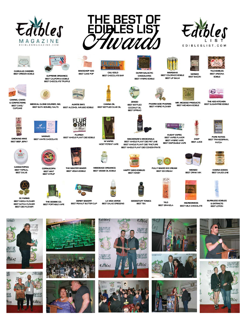 3RD ANNUAL BEST OF EDIBLES LIST WINNERS SPREAD