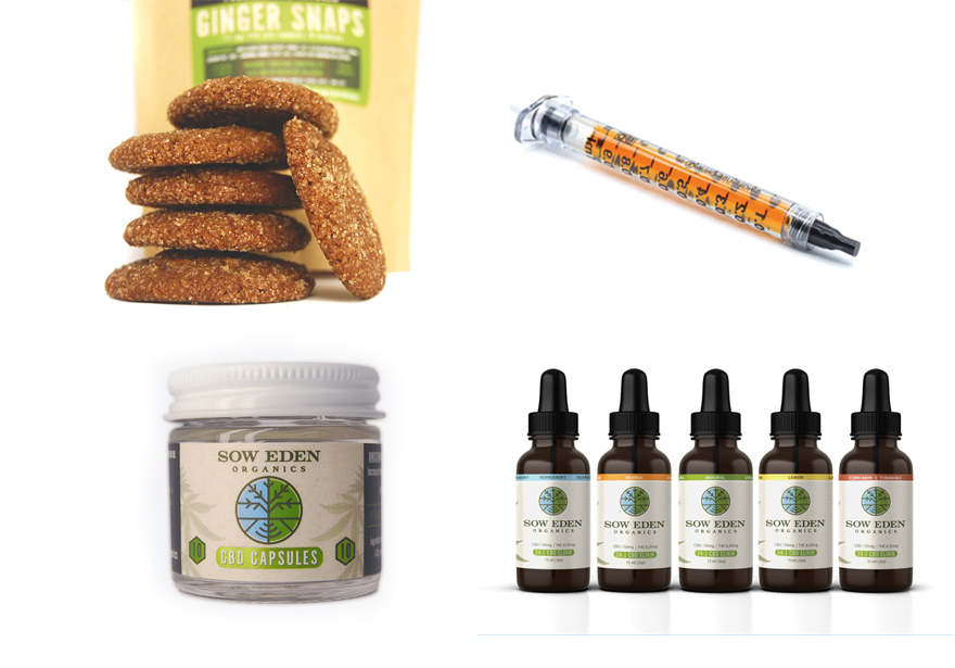 Sow Eden. Ginger Snaps, Capsules, CO2 Oil, Tinctures