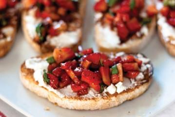 Sensi Strawberry Goat Cheese Bruschetta