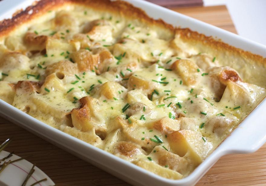 Au Gratin Canna Potatoes