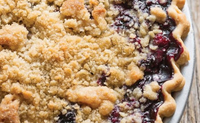 Blueberry Cannabis Crumble Pecan Pie