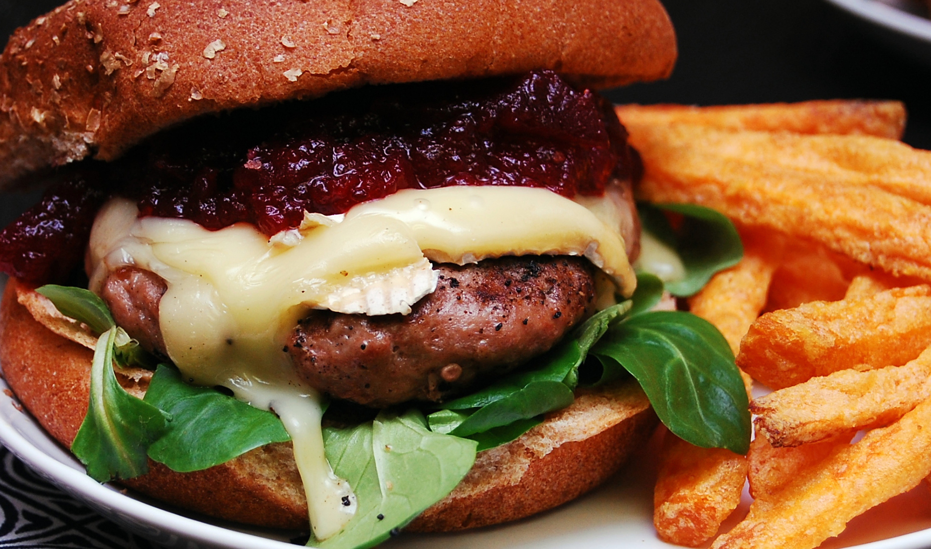 Infused Recipes: Brie & Cranberry Turkey Burger with Fresh Rosemary