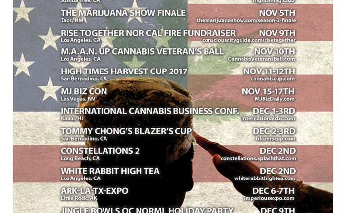 Cannabis Event Guide November-December