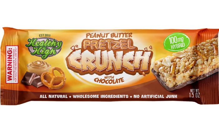 Healthy High – Peanut Butter Pretzel Crunch Bar