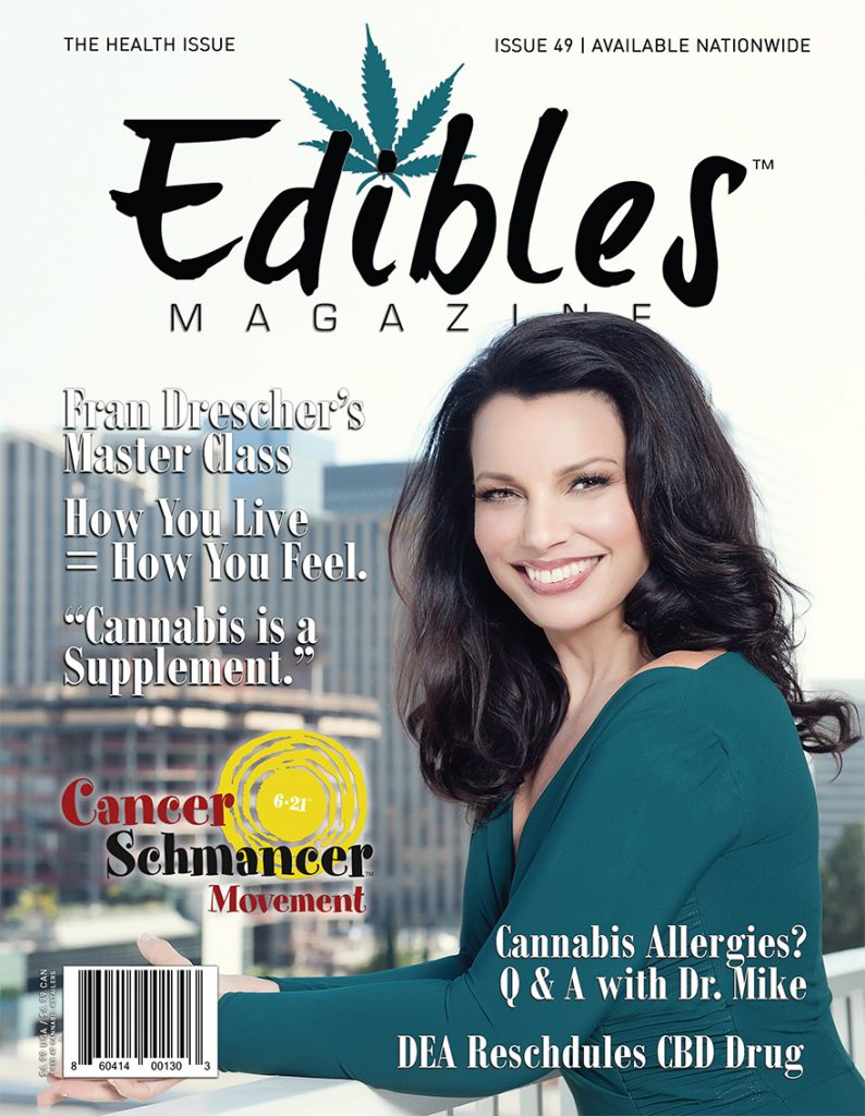 Edibles Magazine Cannabis Feature Interview with Fran Drescher The Nanny - 1