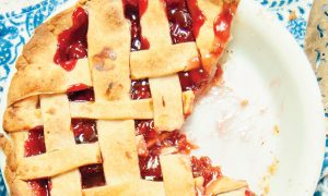 Cannabis Infused Rhubarb Pie