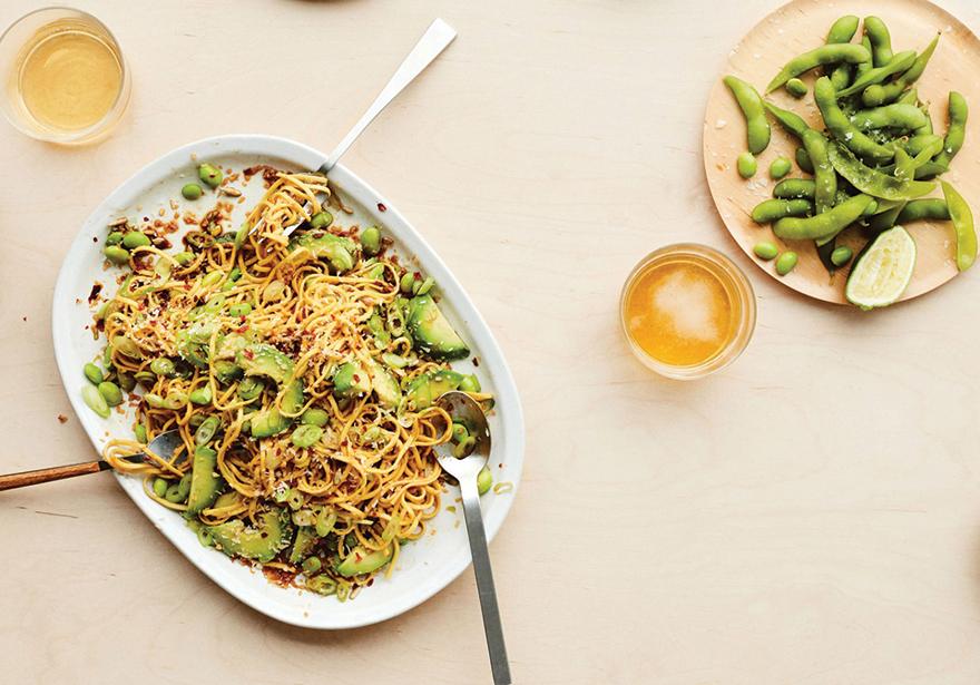 Cannabis-infused-Avocado-Coconut-Noodles