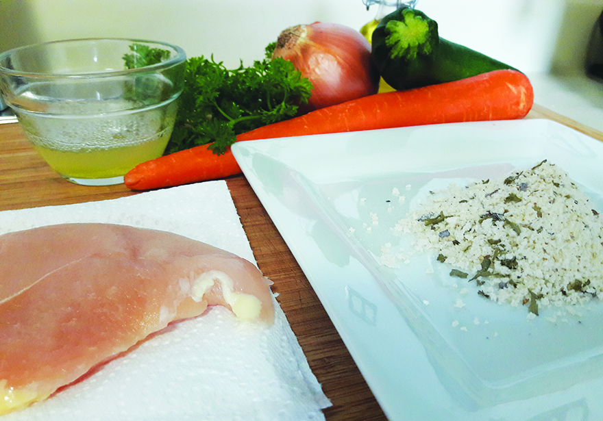 Edibles Magazine Recipe Herb Crusted Chicken Ingredients