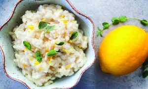 Edible's Magazine Recipe Ginger Canna Lemon-Risotto