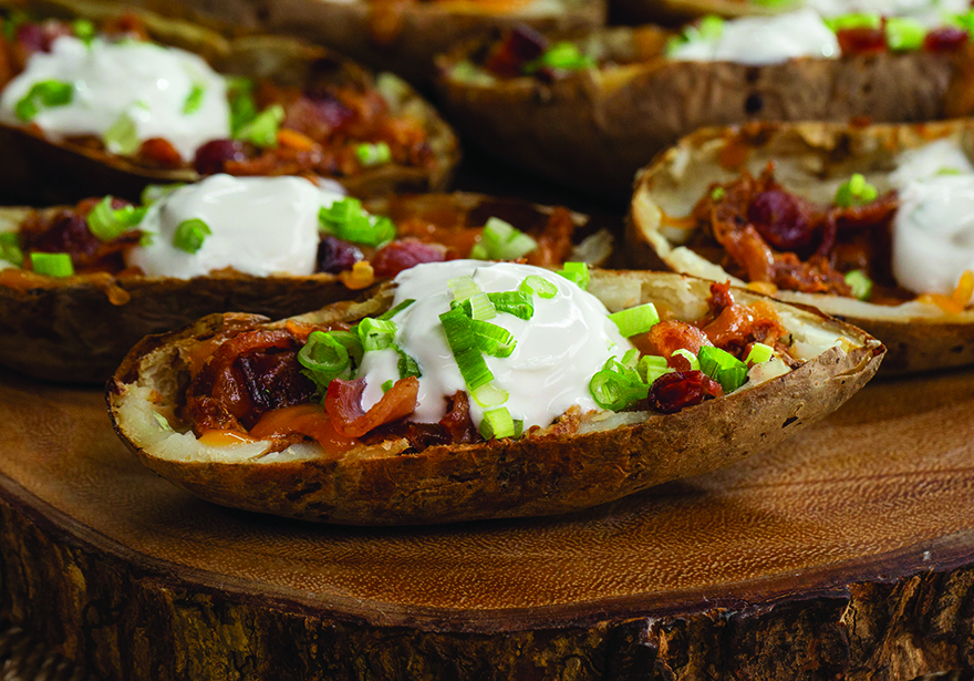 Edibles Magazine Recipe Issue 56 Cannabis Infused Cheesy Bacon Potato Skins