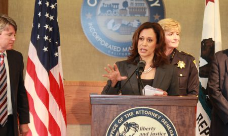 Senator Kamala Harris and the MORE act.