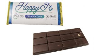 Happy Js CBD Infused Chocolate Bars - Edibles Magazine Editors Pick - Featured Review