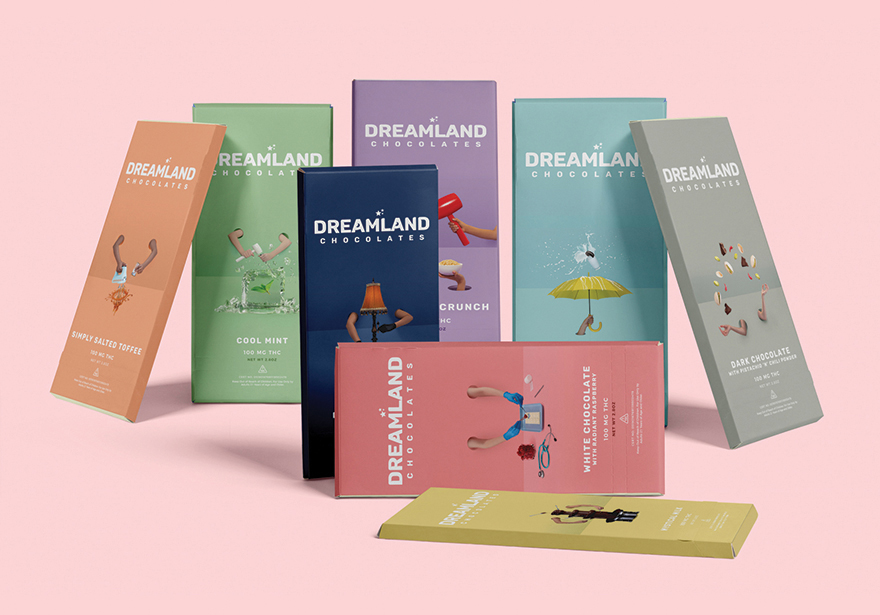 Dreamland Cannabis Infused Chocolate Bars from Planet 13.
