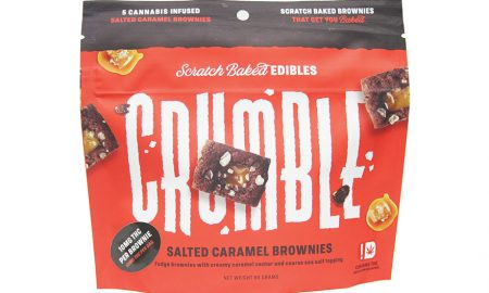 Crumble Salted Caramel Brownie - Stash House - Edibles Magazine Editors Pick Featured Review Oklahoma
