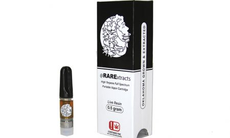 RARE EXTRACTS LIVE RESIN CART - Edibles Magazine Editors Pick Featured Review Oklahoma