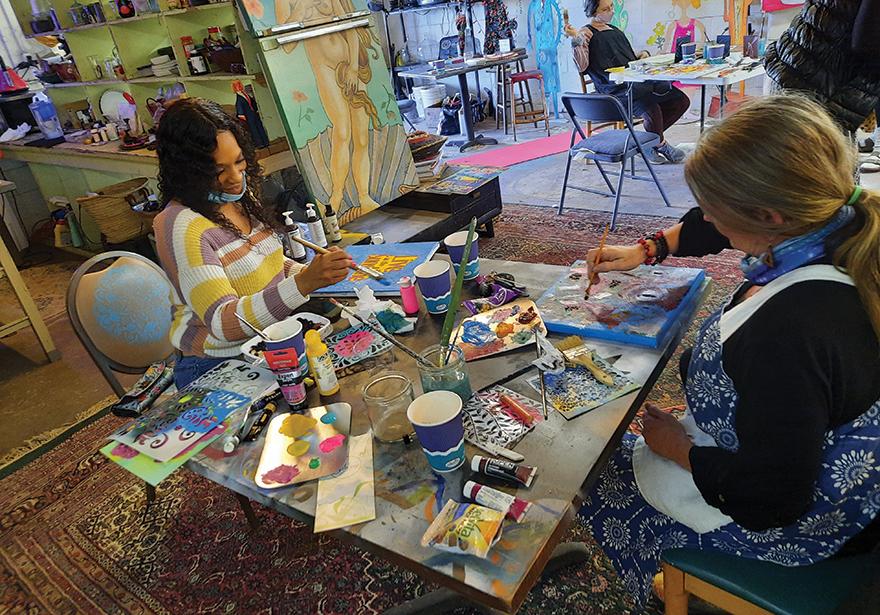 Yoga women weed art and smoke event tulsa oklahoma - 1