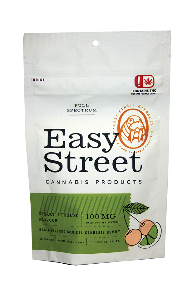 Edibles Magazine Reviews Easy Street Cherry Limeade 100mg Gummies