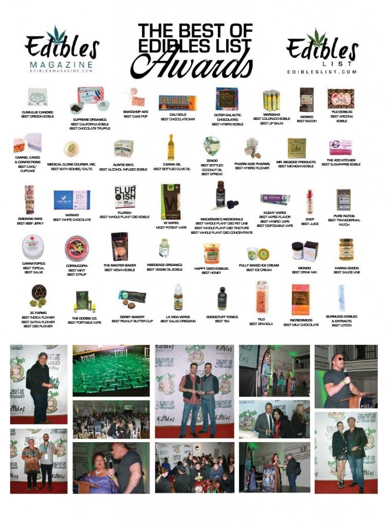 BEST OF EDIBLES LIST AWARDS 2016   Edibles Magazine™