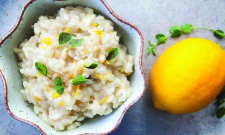 Edible's Magazine Recipe Ginger Canna Lemon-Risotto
