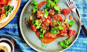 Edible's Magazine Recipe Sesame Watermelon Poke