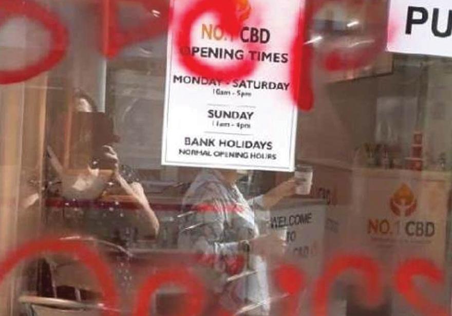 UK-CBD-Store-Vandalized